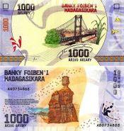 Мадагаскар 1000 ариари 2017 года UNC