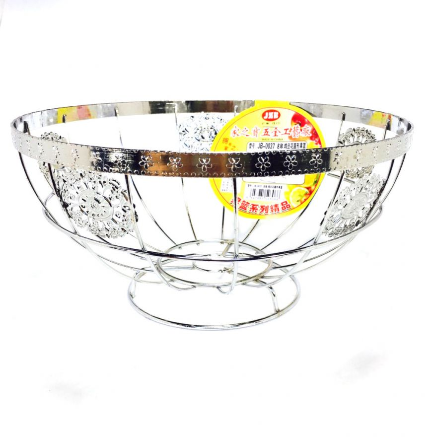 Круглая фруктовница из нержавеющей стали, 24х12 см