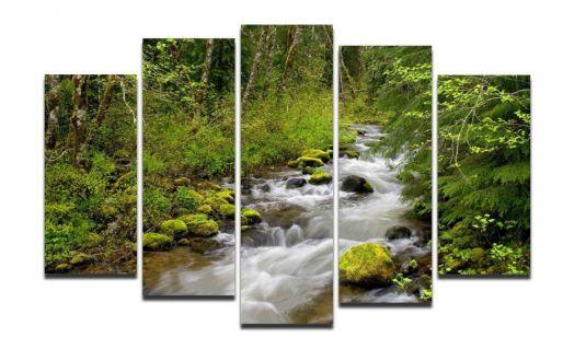 Модульная картина Лесная река
