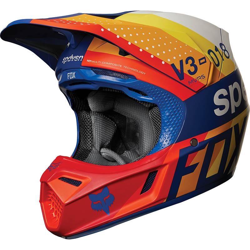 Fox - 2018 V3 Draftr Blue ECE шлем, синий