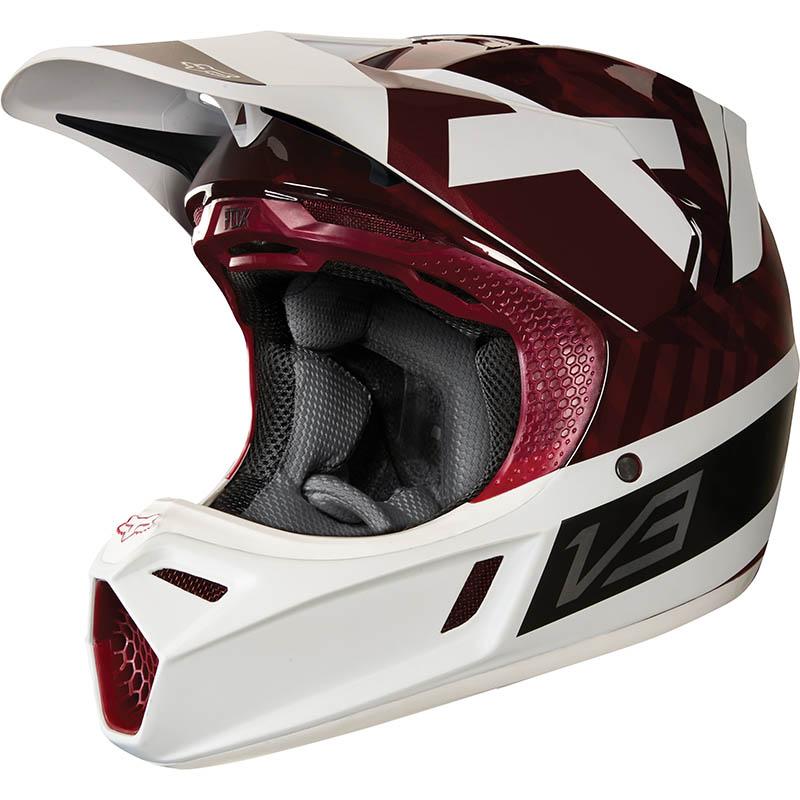 Fox - 2018 V3 Preest Dark Red ECE шлем, темно-красный