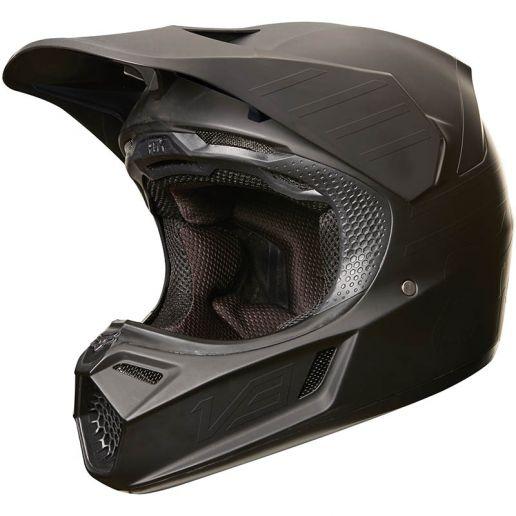 Fox - 2019 V3 Matte Carbon Black шлем, черный матовый