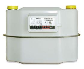 Счетчик газа BK G 6 Т (с температурной компенсацией ) 250мм, левый+Адаптер Ду 25 сварка, шестигр. гайка (меш.)
