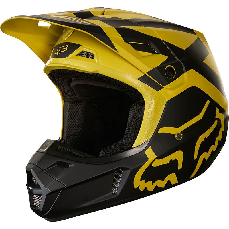 Fox - 2018 V2 Preme Dark Yellow ECE шлем, темно-желтый