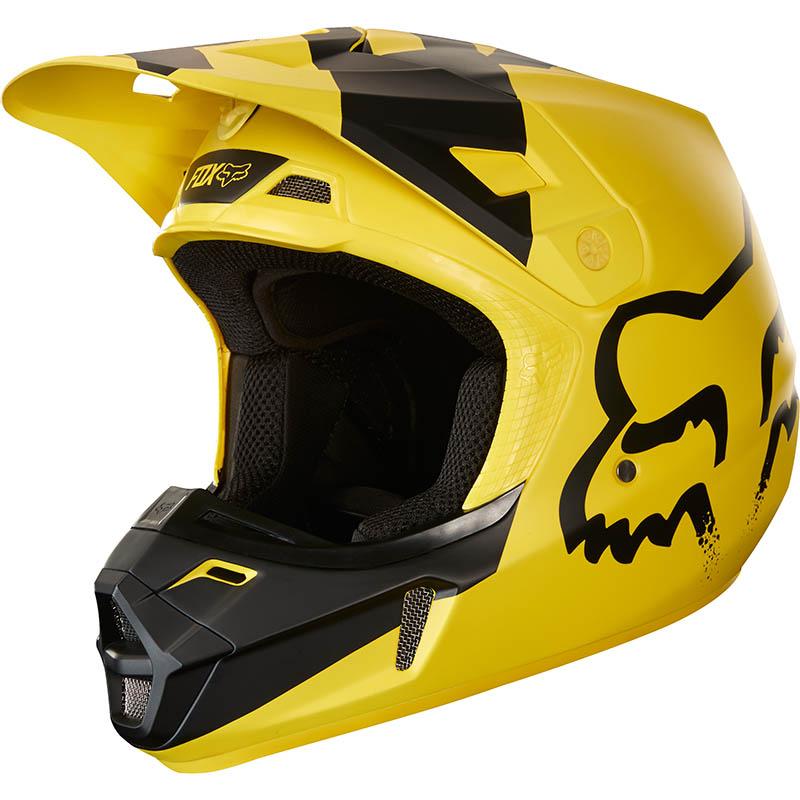Fox - 2018 V2 Mastar Yellow ECE шлем, желтый