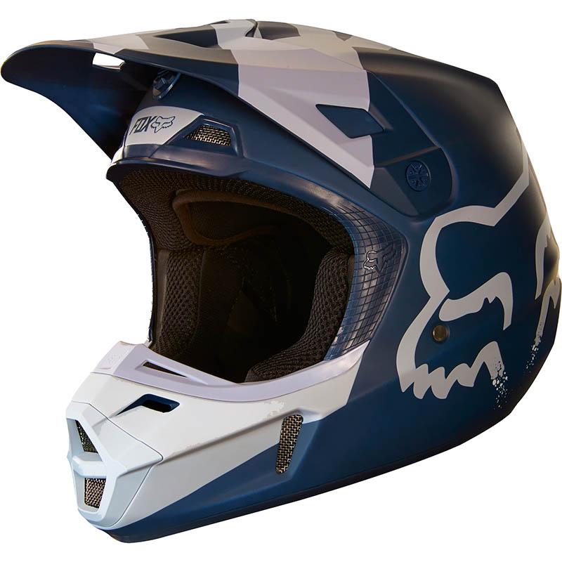 Fox - 2018 V2 Mastar Navy ECE шлем, синий
