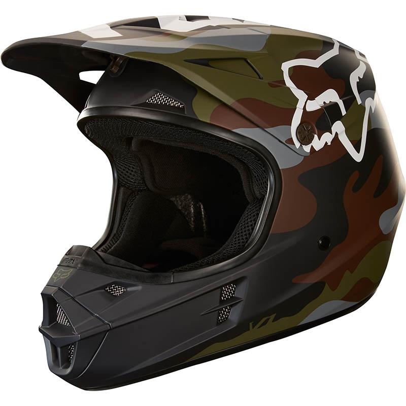 Fox - 2018 V1 Camo ECE шлем, зеленый камуфляж