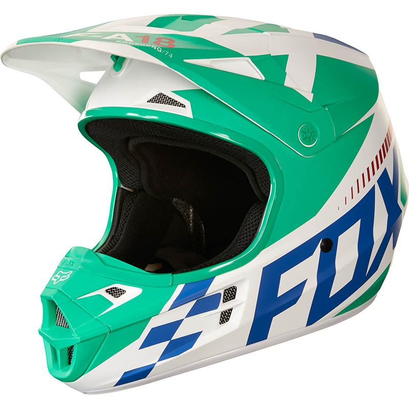 Fox V1 Sayak ECE Youth Green шлем подростковый, зеленый