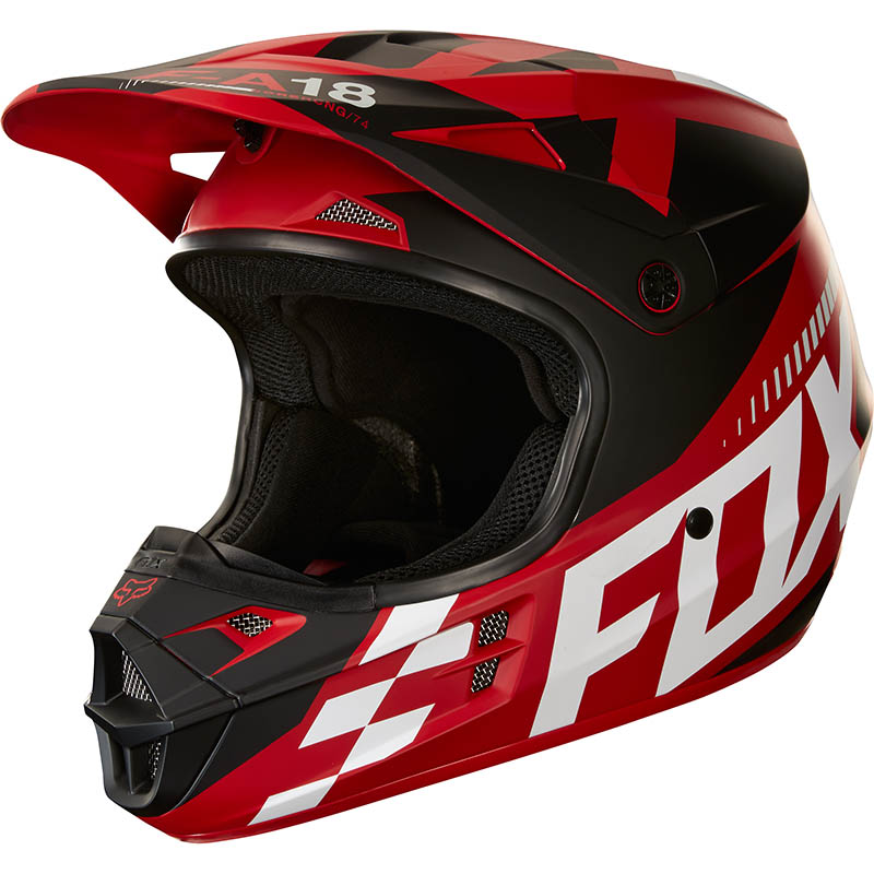 Fox - 2018 V1 Sayak Red ECE шлем, красный