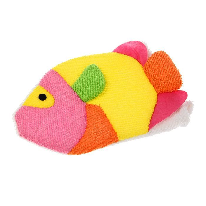 Детская мочалка-варежка в форме рыбки Vetta