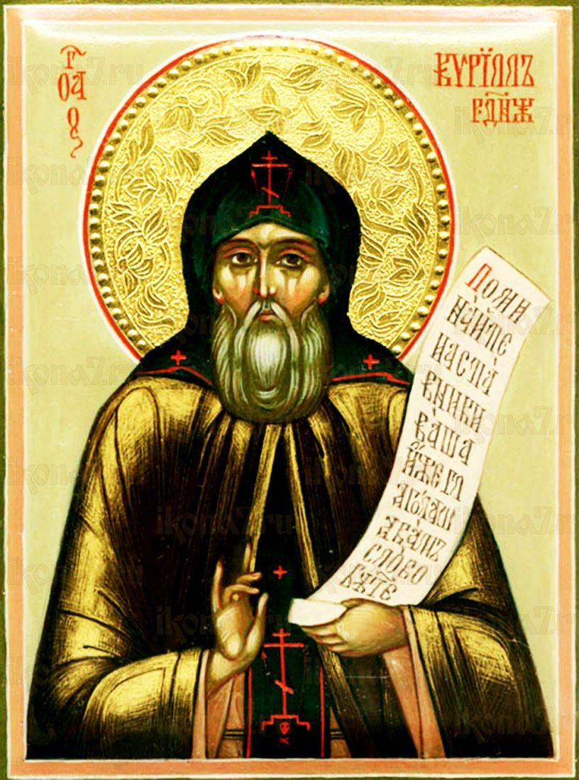 Кирилл Радонежский (рукописная икона)