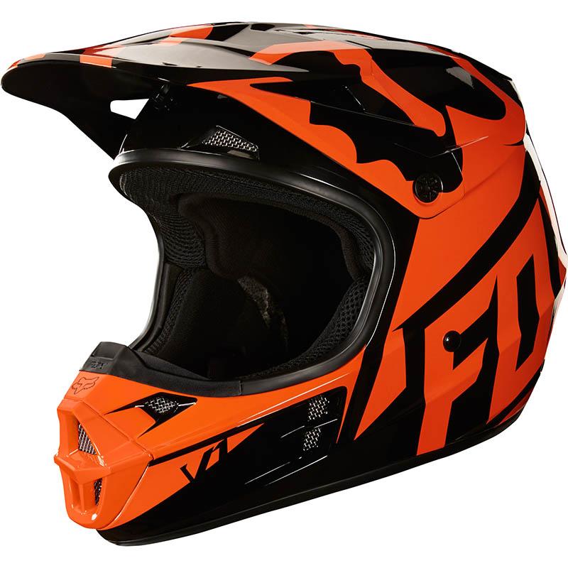 Fox - 2018 V1 Race Orange ECE шлем, оранжевый