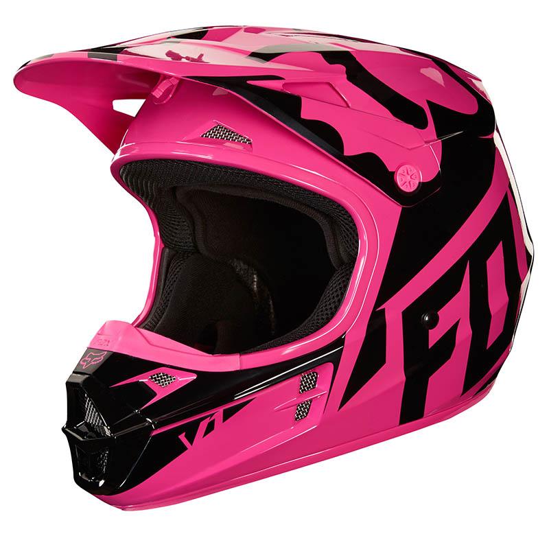 Fox - 2018 V1 Race Pink ECE шлем, розовый