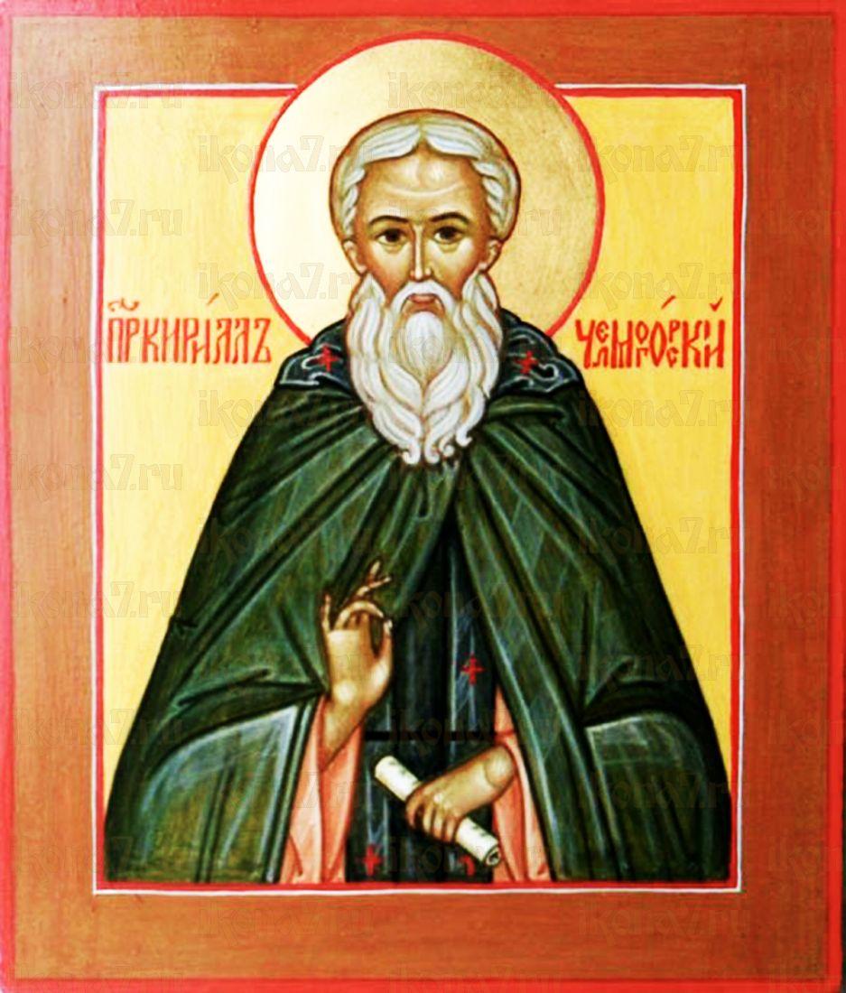 Кирилл Челмогорский (рукописная икона)