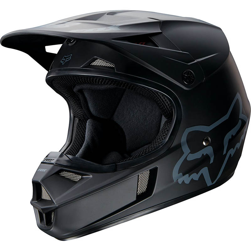 Fox - 2018 V1 Matte Black ECE шлем, черный матовый
