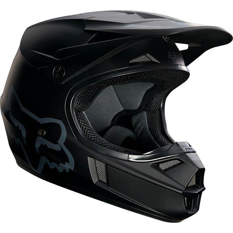 Fox - 2018 V1 Matte Black ECE Youth шлем подростковый, черный матовый