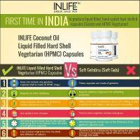 Кокосовое масло в капсулах 500мг Инлайф | INLIFE Coconut Oil Supplement