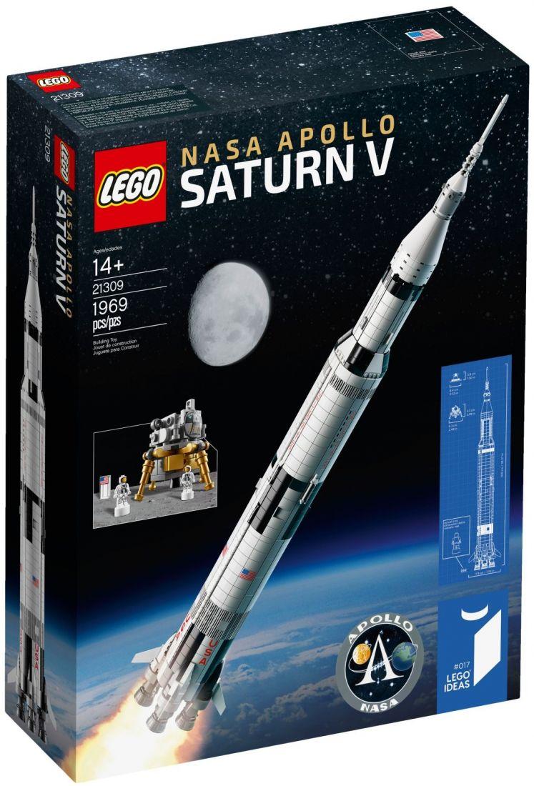 Ракета Аполлон Сатурн 5. Конструктор ЛЕГО Идеи 21309