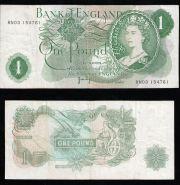 Англия 1 фунт 1970-1977