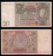 Германия 20 марок 1924-1929