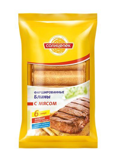 Блины Солнцепек 420г мясо Сибирский Гурман