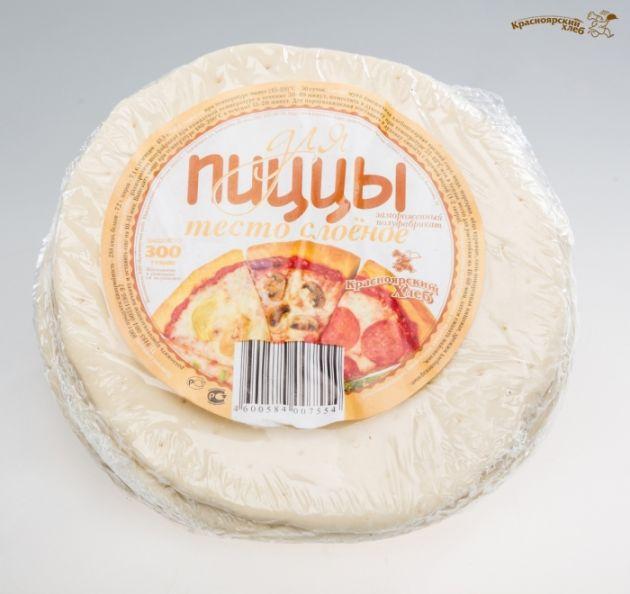 Тесто слоеное для пиццы 350г Красноярский хлеб