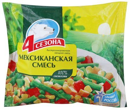 Смесь овощная Мексиканская 400г 4 Сезона