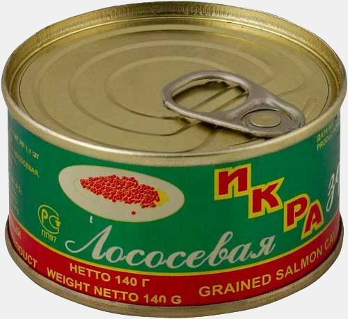Икра Лососевая 140г Зернистая РПК Находинский