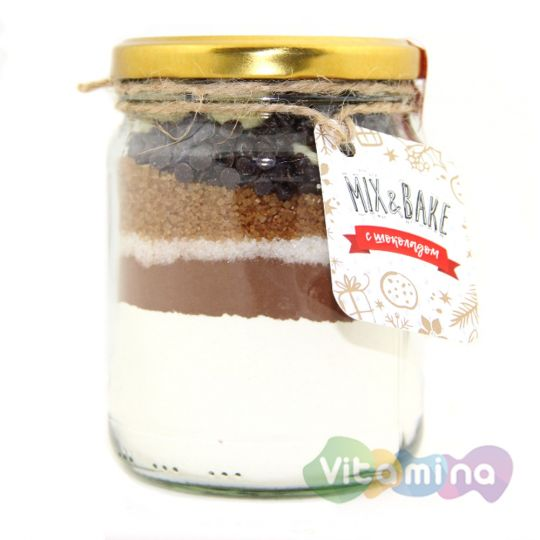 Печенье в банке Mix&Bake с шоколадом