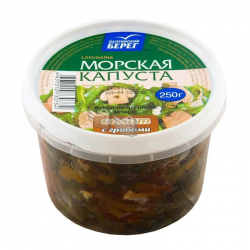 Салат из морской капусты с грибами 250г Балтийский берег