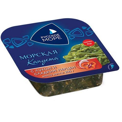 Морская капуста 200г с луком и сладким перцем Русское море