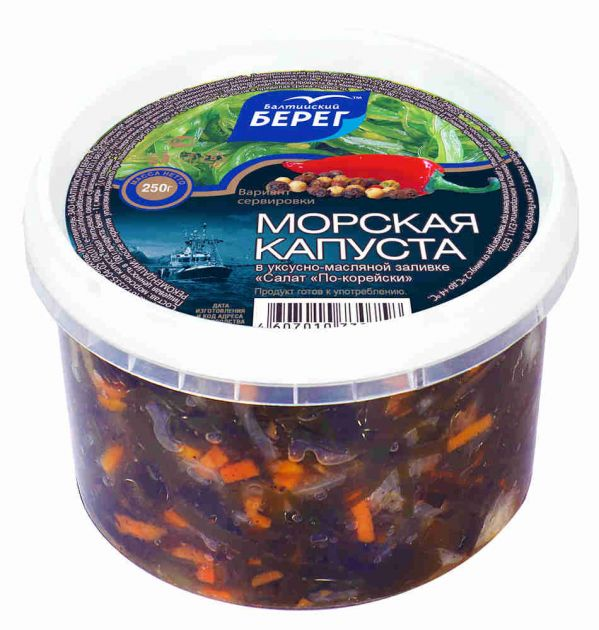 Салат из морской капусты по-корейски 250г Балтийский берег