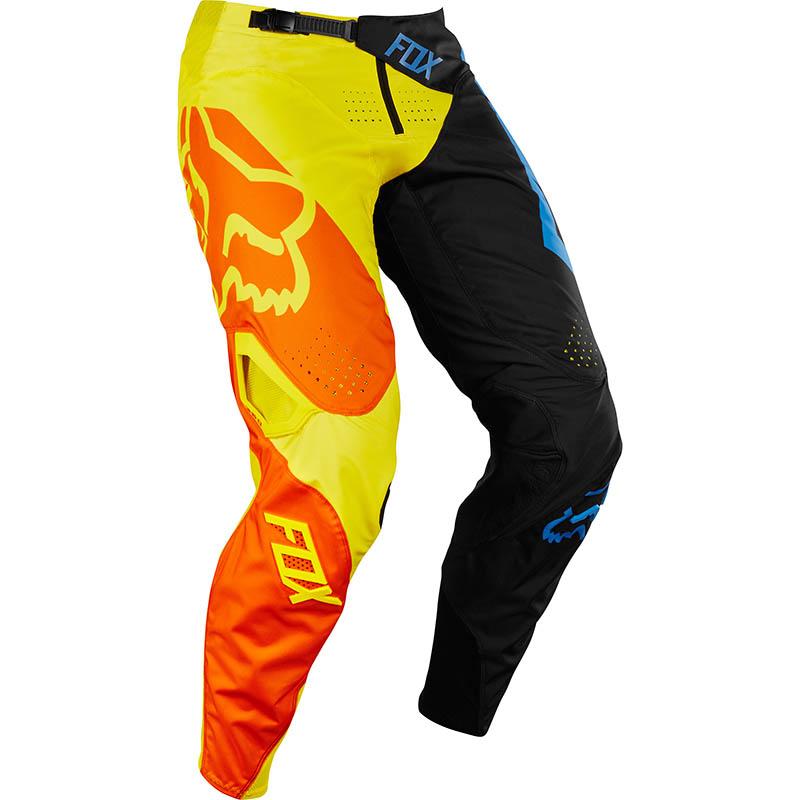 Fox - 2018 360 Preme Pant Youth Black/Yellow штаны подростковые, черно-желтые