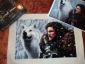 "Cross stitch pattern ""Lord Snow""."