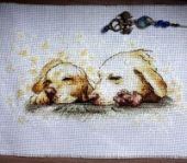 "XStitch pattern ""Golden dreams""."