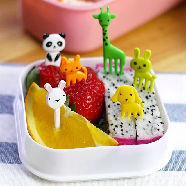 Набор шпажек для канапе Animal Fruit Fork, 8 шт
