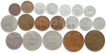 Набор монет Норвегии (19 монет)