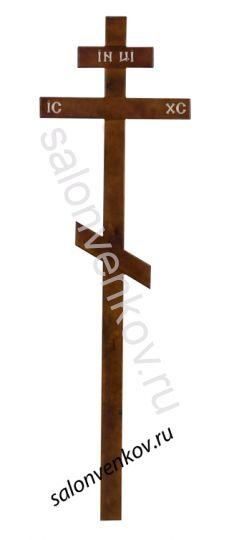 Крест на могилу деревянный сосна стандарт 210см темный