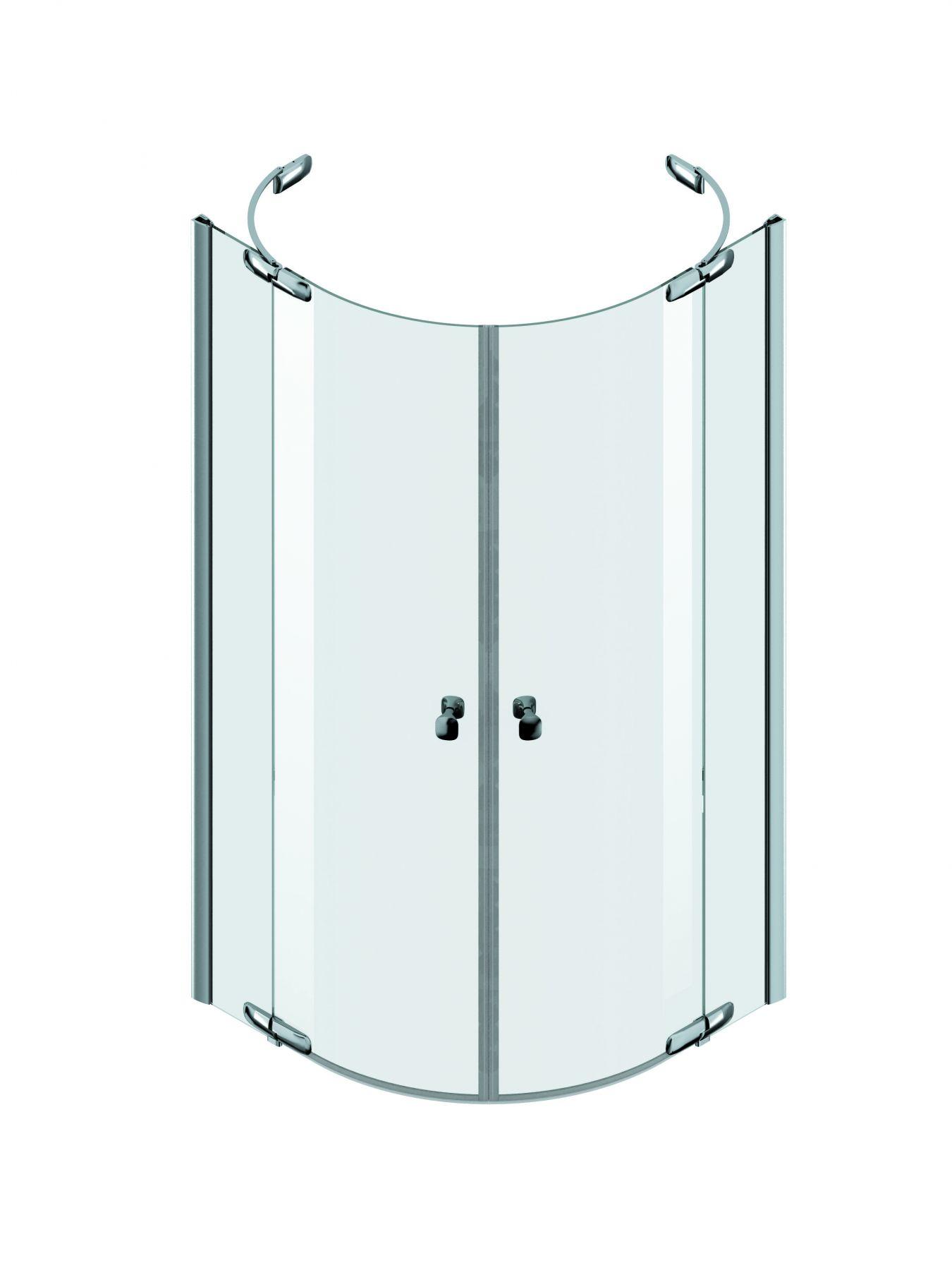 Полукруглый душевой уголок Am.Pm Sensation с двумя распашными дверями ФОТО