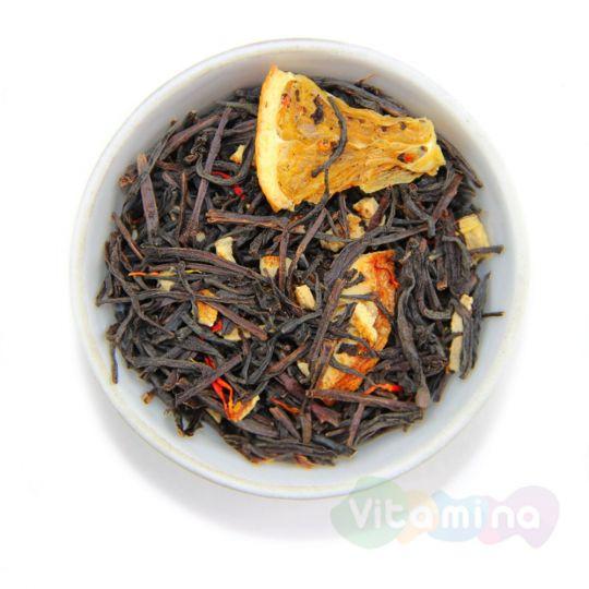 Черный чай с апельсином, 100г