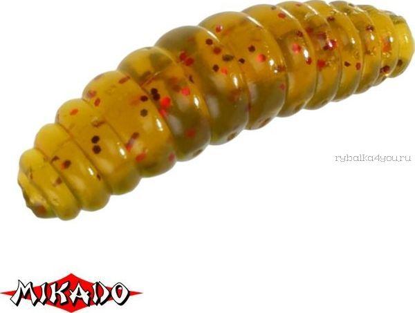 Купить Личинка крупная силиконовая Mikado Trout Campione (чеснок) 2.6 см. / 131