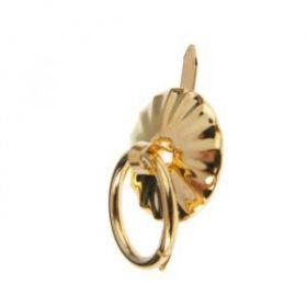 Ручка для шкатулки металл круглая золото набор 4 шт 1,5х1,5 см