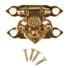 """Замок металл для шкатулки """"Узорный"""" золото набор 2 шт 2,3х3,3 см"""