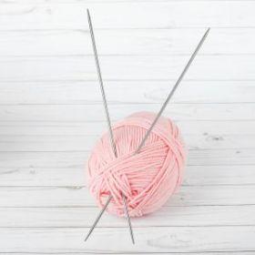 Спицы для вязания, в чехле, d=4мм, 35см
