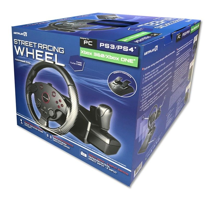 Руль Artplays Street Racing Wheel Turbo C900 (PS4,PS3,Xbox 360, Xbox One)