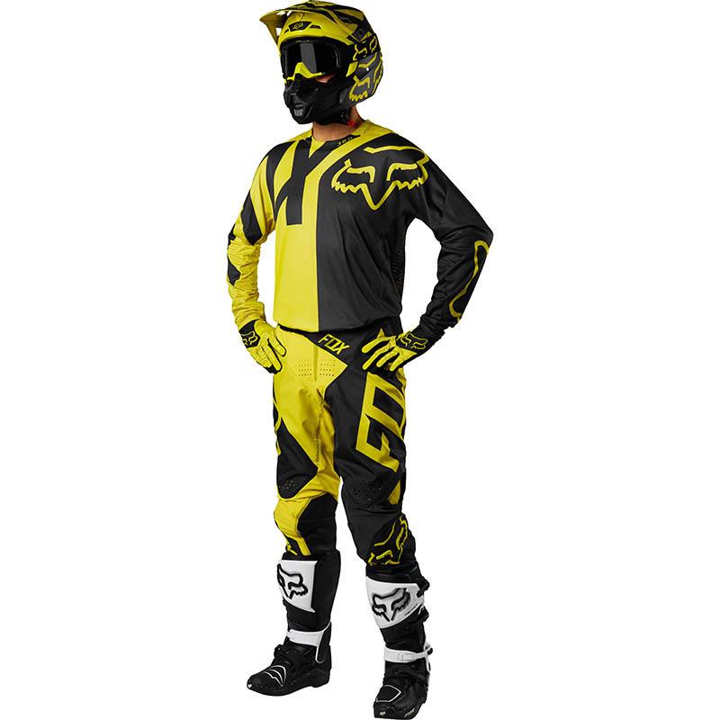 Fox - 2018 360 Preme Dark Yellow комплект джерси и штаны, темно-желтый