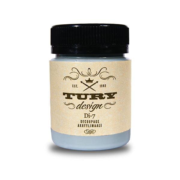 Краска акриловая Tury Design Di-7 цвет: голубой дым 36-50 60 гр.
