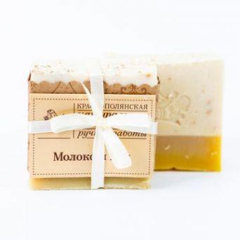 """Органическое мыло  """"Молоко и мед"""",  100 гр"""