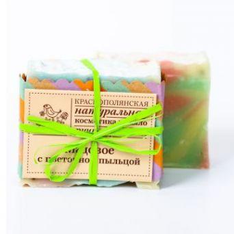 """Мыло  """"Медовое с цветочной пыльцой"""",  100 гр"""