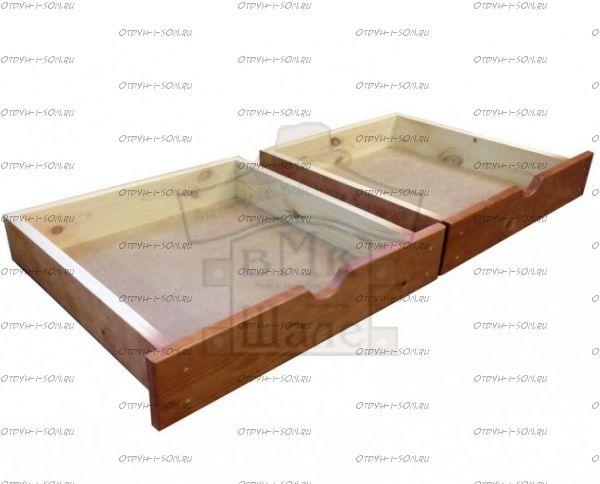 Ящики подкроватные, фасад из массива (ВМК Шале)